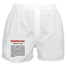 Ineptocracy Definition Boxer Shorts