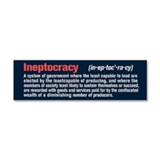 Ineptocracy Definition Car Magnet 10 x 3