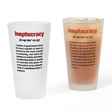 Ineptocracy Definition Drinking Glass