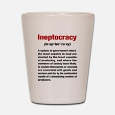 Ineptocracy Definition Shot Glass