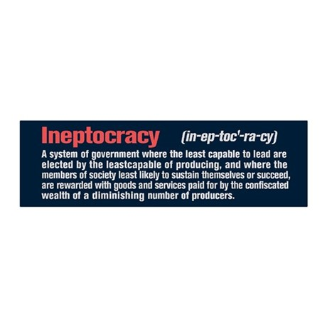 Ineptocracy Definition 20x6 Wall Decal