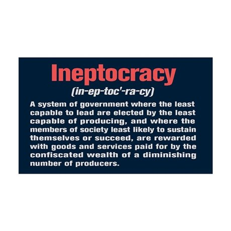 Ineptocracy Definition 35x21 Wall Decal