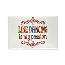 Line Dancing Passion Rectangle Magnet