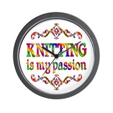 Knitting Passion Wall Clock