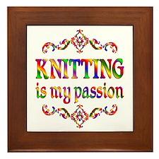 Knitting Passion Framed Tile