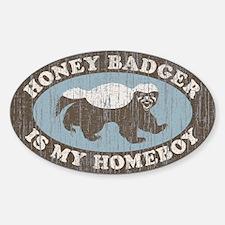 Vintage Honey Badger HB Sticker (Oval)