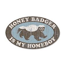Vintage Honey Badger HB 22x14 Oval Wall Peel