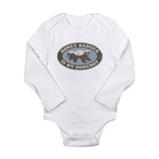 Vintage Honey Badger HB Long Sleeve Infant Bodysui