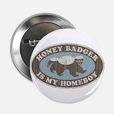"""Vintage Honey Badger HB 2.25"""" Button"""