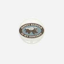 Vintage Honey Badger HB Mini Button (10 pack)