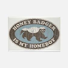 Vintage Honey Badger HB Rectangle Magnet (100 pack