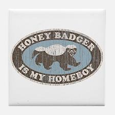 Vintage Honey Badger HB Tile Coaster