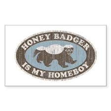 Vintage Honey Badger HB Decal