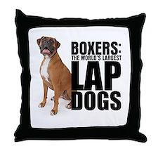 Lap Dog Throw Pillow