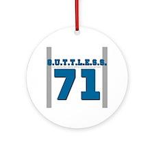 GuttlessGear_TmGutt_Blue Ornament (Round)