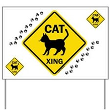 Cat X-ing (B) Yard Sign