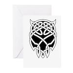 Black Skull Greeting Cards (Pk of 20)