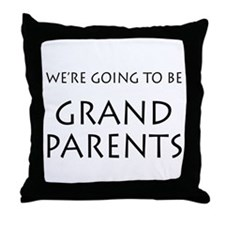 Going to be grandparents announcement Throw Pillow