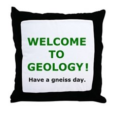 Geology Welcome 3 Throw Pillow