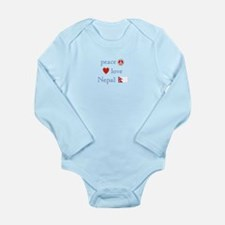 Peace, Love and Nepal Long Sleeve Infant Bodysuit