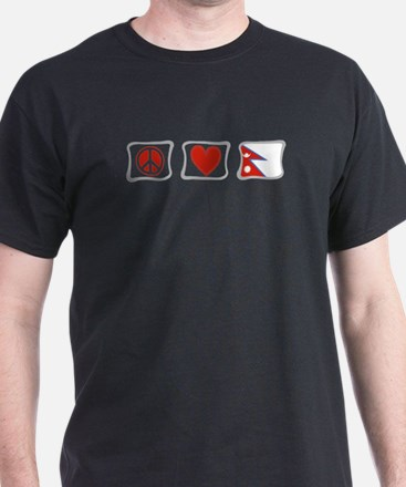 Peace, Love and Nepal T-Shirt
