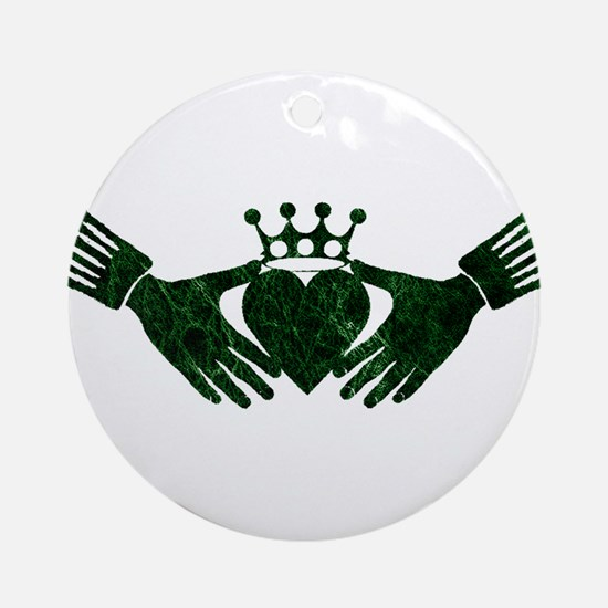 claddagh green.png Ornament (Round)
