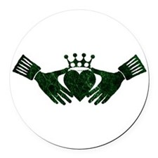 claddagh green.png Round Car Magnet