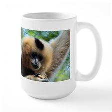 Golden-Cheeked Gibbon eatting 9 Mug