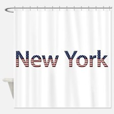 New York Stars and Stripes Shower Curtain