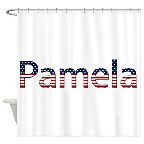 Pamela Stars and Stripes Shower Curtain