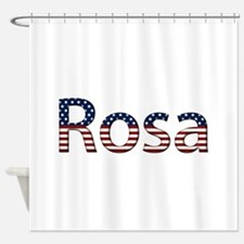 Rosa Stars and Stripes Shower Curtain