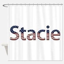Stacie Stars and Stripes Shower Curtain