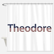 Theodore Stars and Stripes Shower Curtain