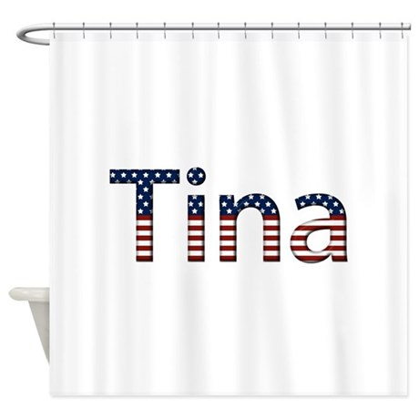 Tina Stars and Stripes Shower Curtain