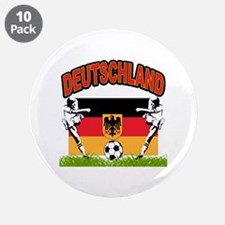 """Germany World Cup Soccer 3.5"""" Button (10 pack)"""
