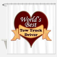Unique Tow truck driver Shower Curtain