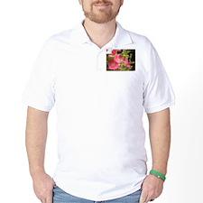 Pink (Lady) Hollyhock Flower T-Shirt