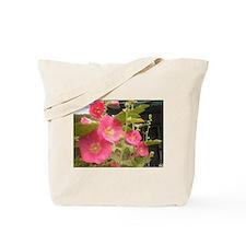 Pink (Lady) Hollyhock Flower Tote Bag