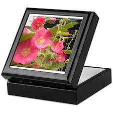 Pink (Lady) Hollyhock Flower Keepsake Box