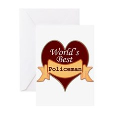 Unique Policewoman Greeting Card