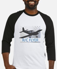 RC Flyer Low Wing Airplane Baseball Jersey