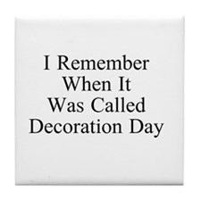 Decoration Day Tile Coaster