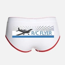 RC Flyer Low Wing Airplane Women's Boy Brief