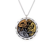 Celtic Chasing Hounds 1 Necklace