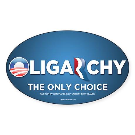 Oligarchy 2012 Sticker (Oval)