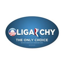 Oligarchy 2012 Oval Car Magnet