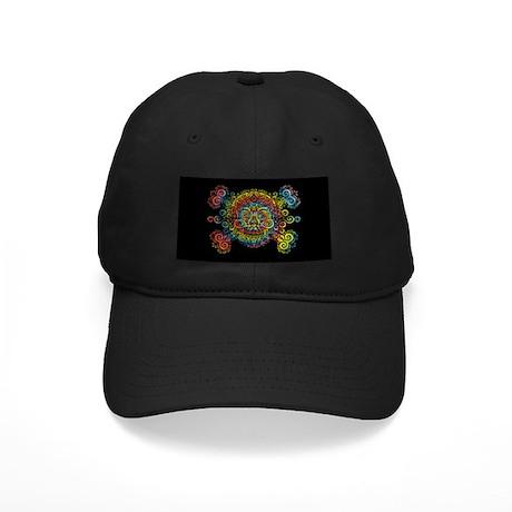 Tie-Dyed Antique Skull Black Cap