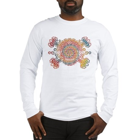 Tie-Dyed Antique Skull Long Sleeve T-Shirt