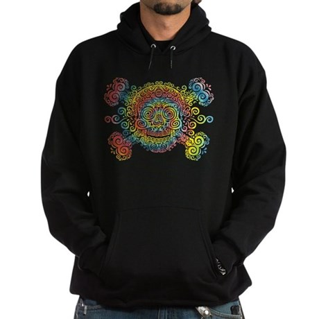 Tie-Dyed Antique Skull Hoodie (dark)