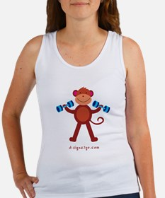 Monkey Weightlifting Women's Tank Top